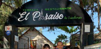 Restaurant owners Nico and Virginia with organisers, Marlene Brown and Joan Rampton.