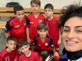 """""""Some of the children were having their first coaching lesson and game,"""" said Marta,"""