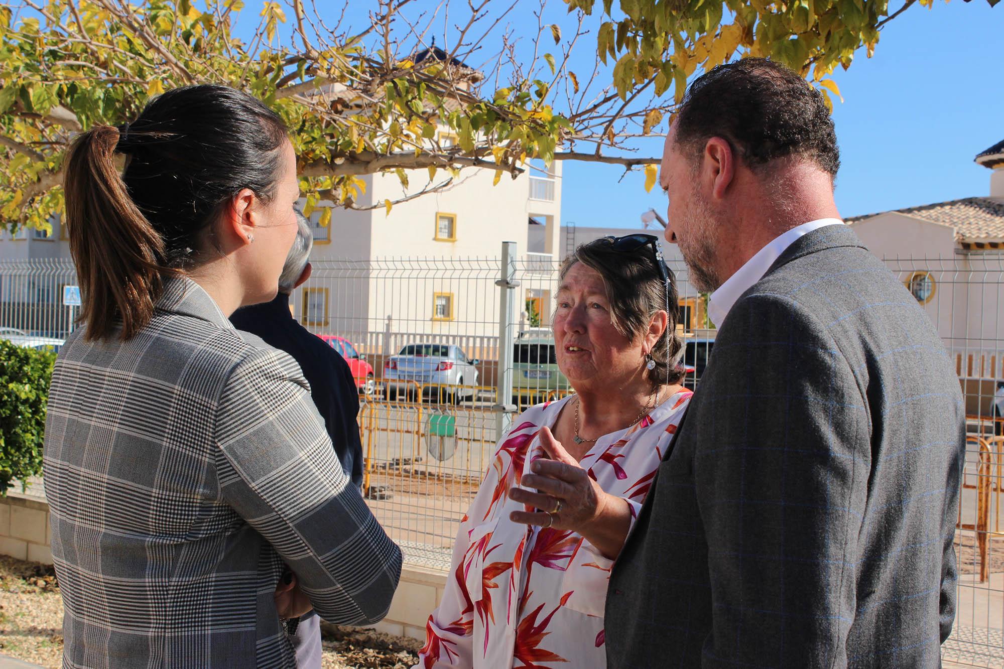 The mayor was shown around by Norah Bond