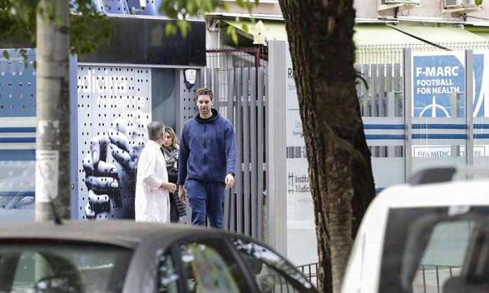 Pau Gasol arrives in Murcia for medical treatment