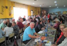 RNA Torrevieja Branch Socialise at Menu del Dia