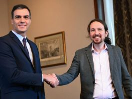 Minority coalition government formed by PSOE and Podemas