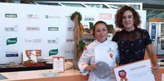 Ana Belen Juarez Pastor pictured with top chef Aurora Torres.