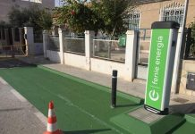 Electric vehicle charging point, located on Avenida de La Marquesa. Photo: Los Montesinos Ayuntamiento.