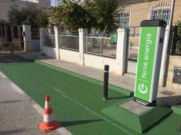 Electric vehicle charging point, located on Avenida de La Marquesa. Photo: Los Montesinos Ayuntamiento.