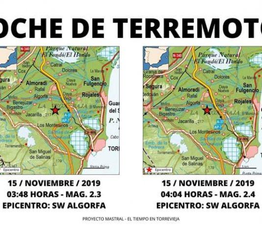TWO EARTHQUAKES RECORDED EPICENTRE ALGORFA