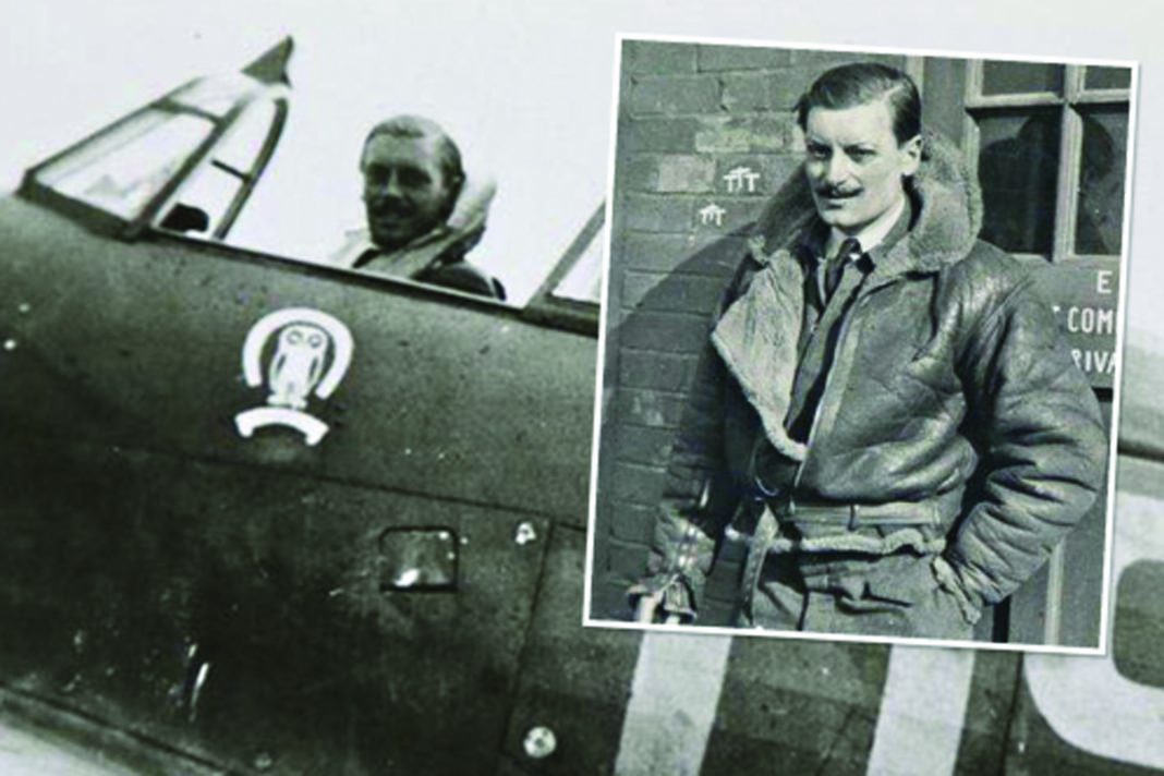 Flt Lt Maurice Mounsdon cut a dashing figure as a Hurricane pilot during the war