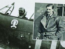 Flt Lt Maurice Mounsdon cut a dashing figure as a Hurricane pilot during the war