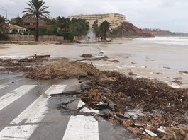 Torrential rains in Costa Blanca and Costa Calida ease - leaving devastation and flooding