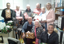 Freemasons Christmas shoe box drive