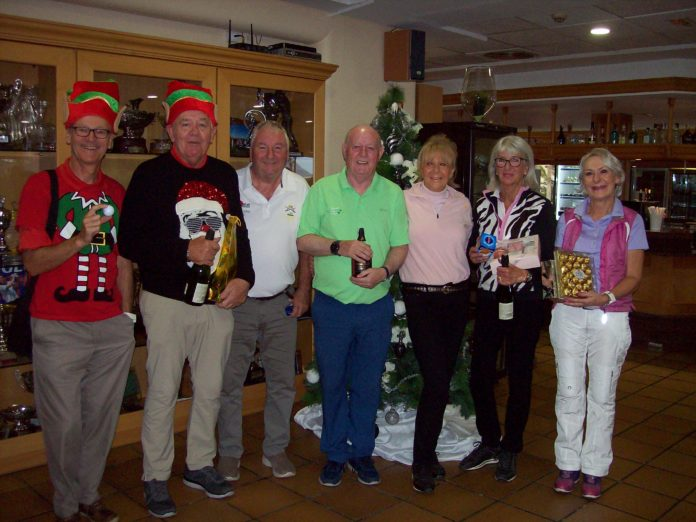 MONTGO CHRISTMAS STABLEFORD 20th DECEMBER 2019