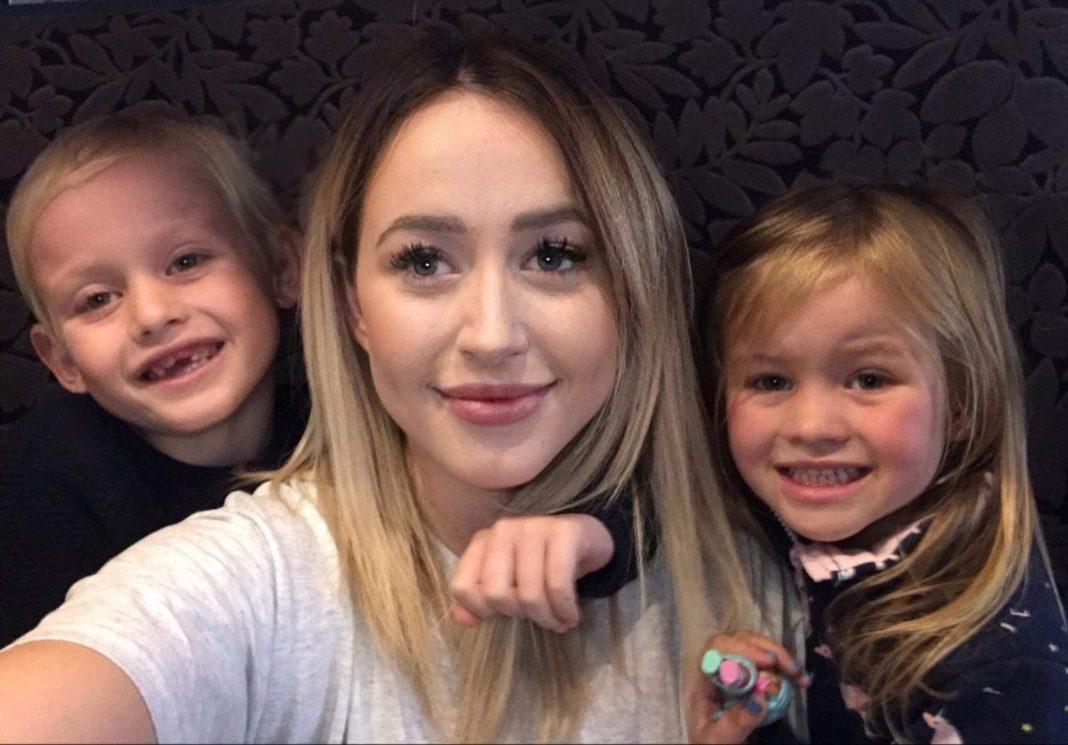NHS Student paediatric nurse Jess, with Charlie, 7, and Elsie, 4.