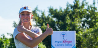 Julia Engström made a strong start to the season-ending Magical Kenya Ladies Open presented by Safaricom's M-Pesa