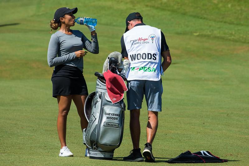 06/12/2019. Ladies European Tour 2019. Magical Kenya Ladies Open, Vipingo Ridge Golf Club, Kilifi County, Kenya. Dec 5-8 2019 Cheyenne Woods of the USA during the second round. Credit: Tristan Jones