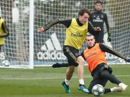 Bale trains with the Real Madrid ahead of Club Brugge clash