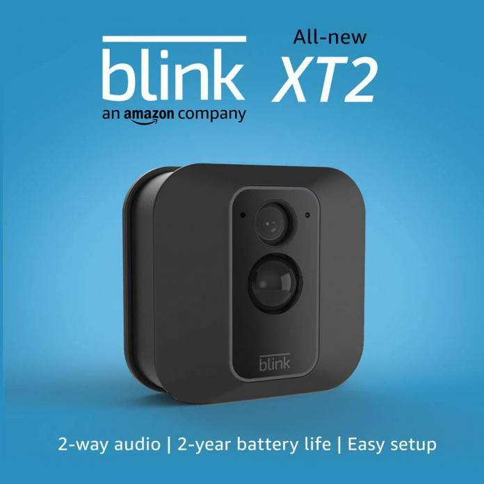 The Blink XT2 is a smart indoor/outdoor capable security camera.