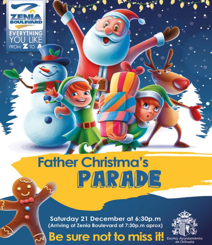 Father Christmas Parade at La Zenia Boulevard