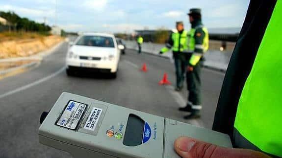 Spanish Policia Traffico 25,000 alcohol checks daily during Christmas