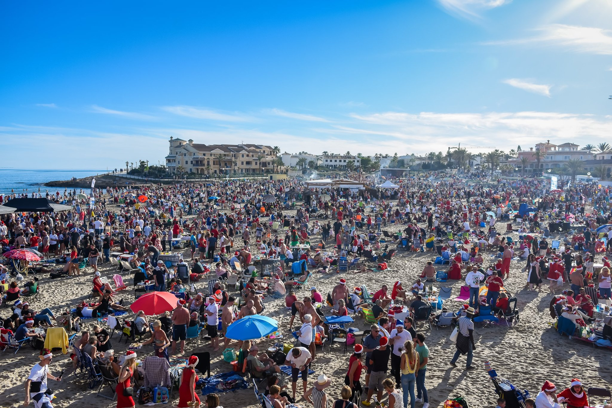 There was no space at all on Zenia Beach with the occasion continuing to grow year on year