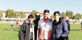 Youth prodigy Ramon (centre) Santa Pola CF senior debut.