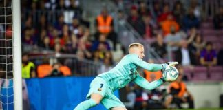 Their German keeper Ter StegenMarc-Andre ter Stegen let in another two goals against Mallorca