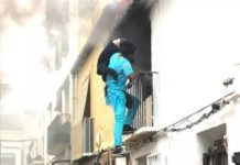 Senalganese born Gorgui saves the life of disabled Alex, trapped in his house, following blaze in Denia.