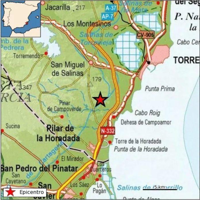 San Miguel de Salinas epicentre of 2.5 'quake