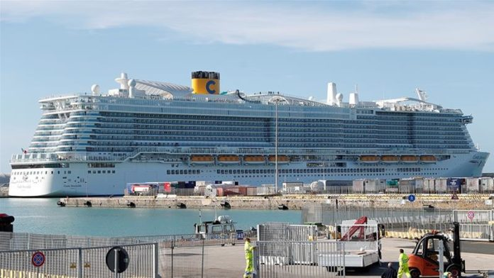 The cruise ship is placed on lockdown - until results from a hospital in Rome are revealed