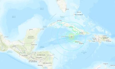 Earthquake of 7.7 hits The Bahamas, Cayman Islands, Jamaica, Haiti, Honduras, and Cuba