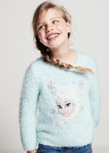 Elsa Light Up Jumper, not suitable for children under 3, due to small parts.