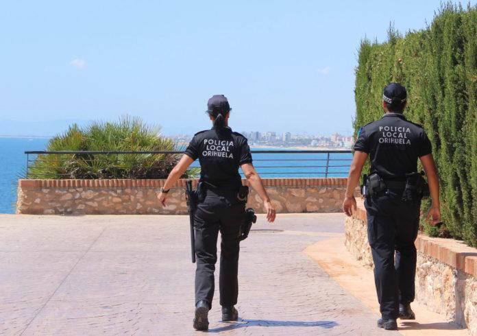 Local police patrol the coast