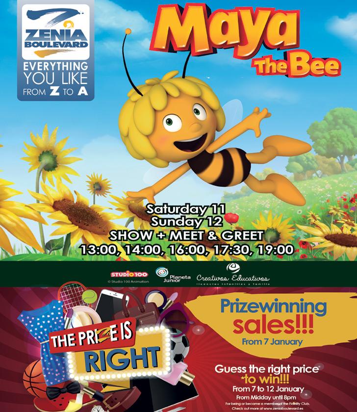 Maya the Bee visits La Zenia Boulevard on Saturday, 11 January 2010 and Sunday 12, January 2020