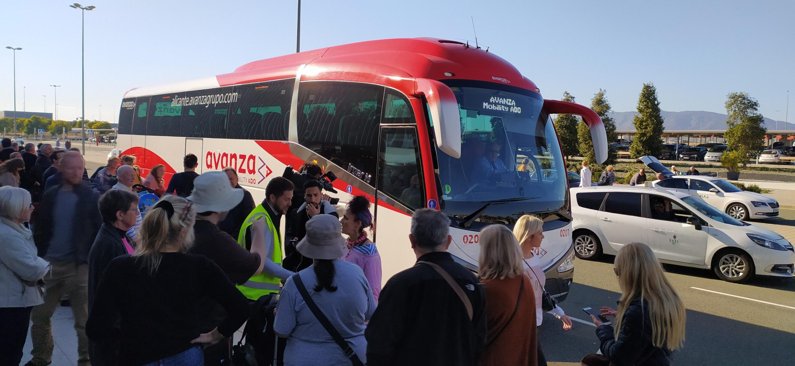 Many passengers were bused to Corvera and Alicante airports