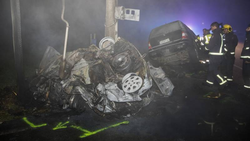 Two dead and two seriously injured in devastating traffic accident in Cerceda