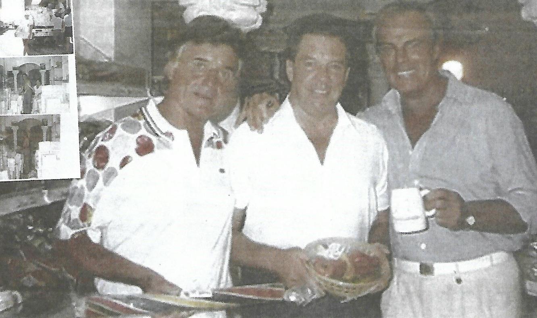 Ronnie Knight (left) Tony Slater and comedian/impressionist Paul Melba in Calpe. Photo: Courtesy Tony Slater.