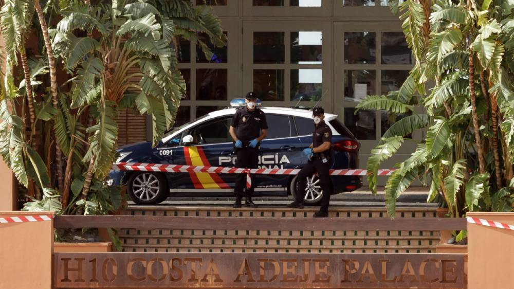 The H10 Costa Adeje Palace hotel where they stayed has been in lockdown since Monday night