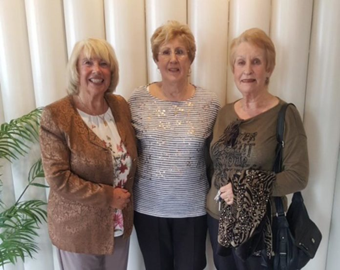Re-union of former members of Torrevieja tap dancing group Sofistikats, Ivy, Star and Sylvia. Photo: Andrew Atkinson (c).