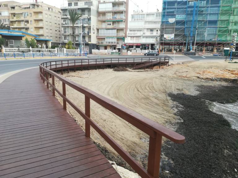 Three Torrevieja beaches back to normality following storms