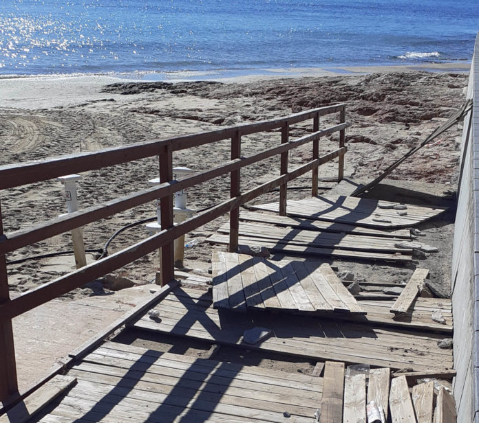 Work gets underway on Torrevieja seafront
