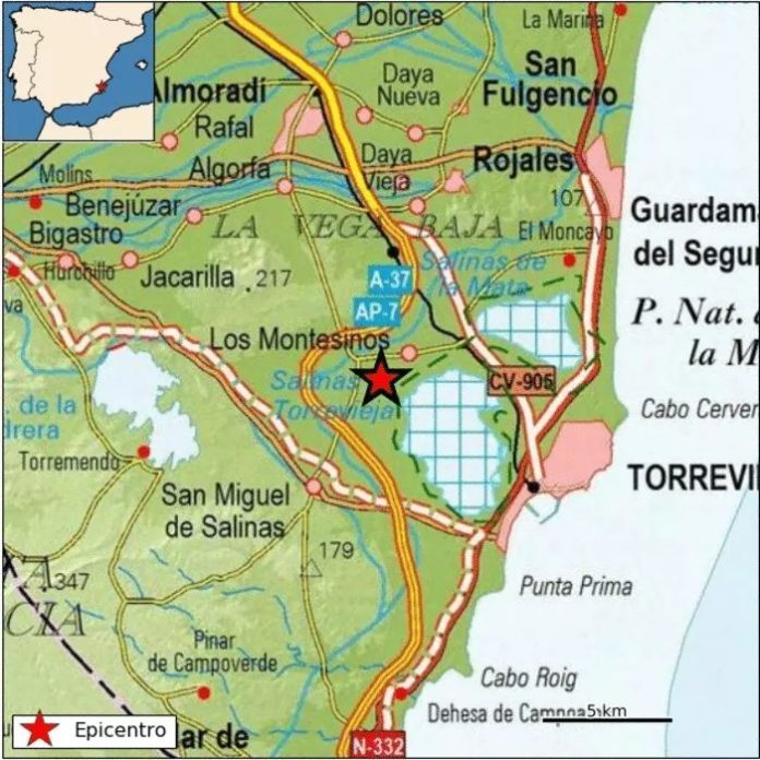 Los Montesinos, epicentre of earthquake on February 11.