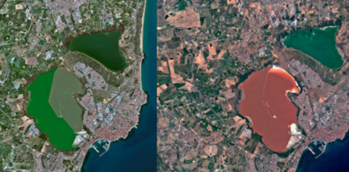 The change in colour has been recently highlighted by a series of satellite images published by scientist Nahúm Méndez.
