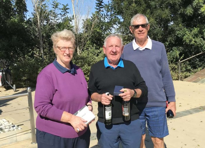 Photograph from L to R. Janice O'Brien, Ray Housley, Mike Davies,.