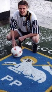 Teenager Beck's, 19, at Preston North End in 1995.