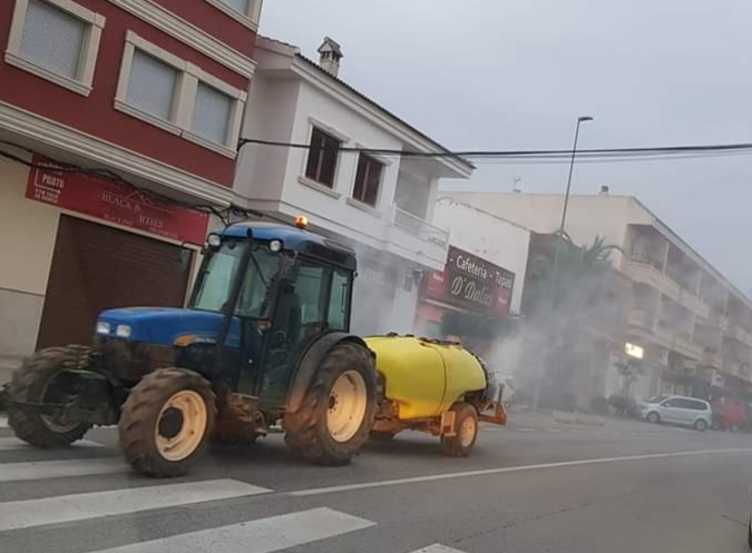 Los Montesinos plans to disinfect town cancelled until March 30