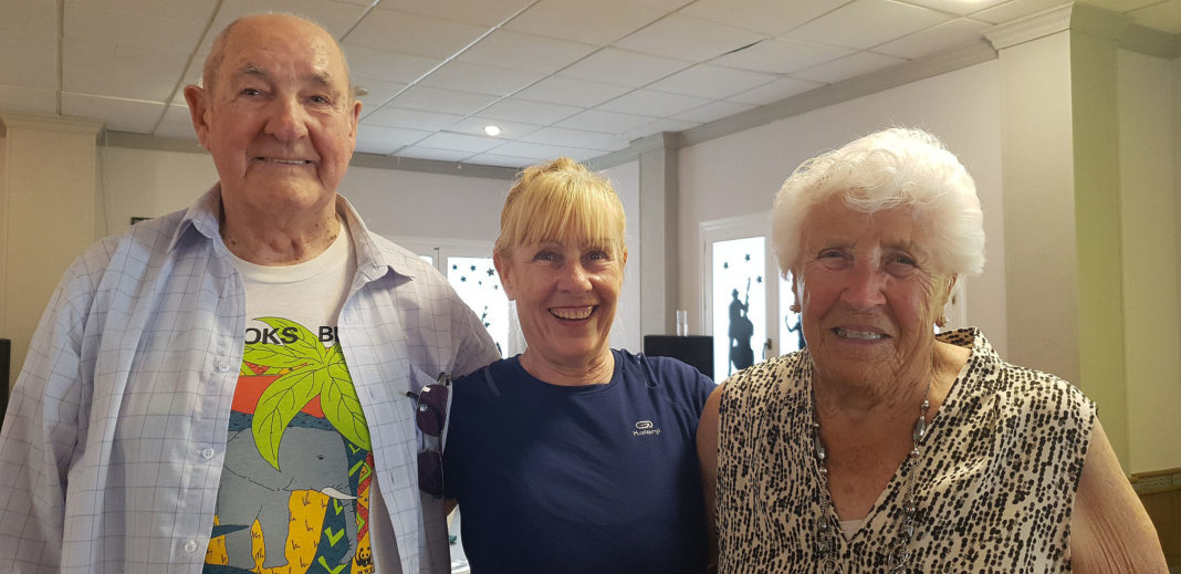 Crecia- Fitness instructor Crecia Wilding with 92 year old Joe and 93 year old Joy