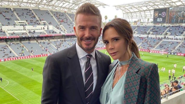 David and wife Victoria at Inter Miami FC against Los Angeles FC. Photo: Victoria Beckham Instagram.