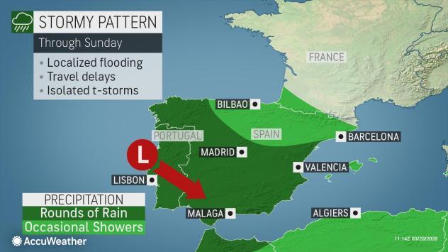 Rain in Spain and Portugal over weekend as spring gets underway