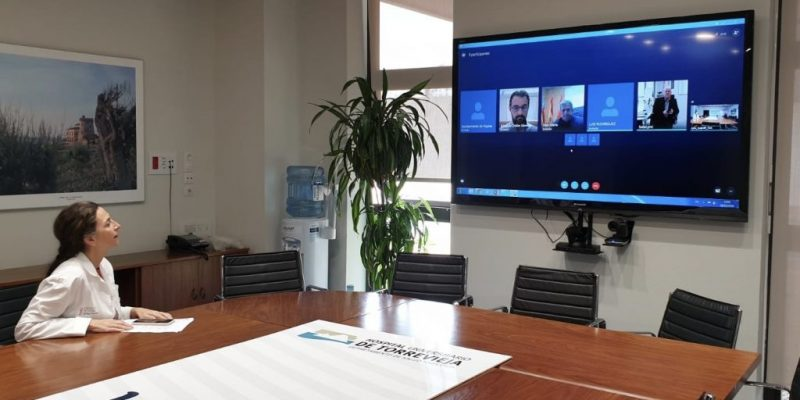 The weekly meeting was held on Wednesday by videoconference
