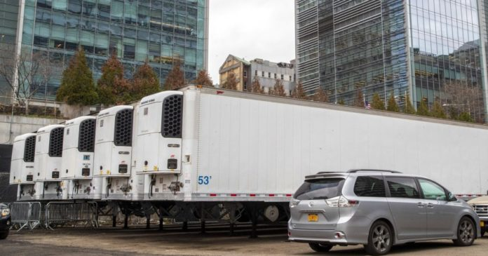 Trucks used as mobile morgues as New York unable to store its bodies