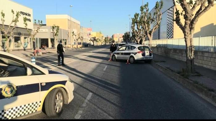 Santa Pola police crackdown on motorists.